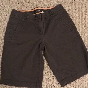 J. Crew stretch gray Bermuda shorts Size 4